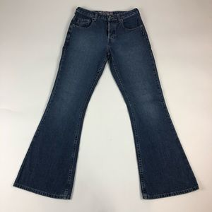 Vintage Silver Womens Bootcut Button Fly Jeans
